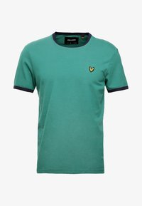 Lyle & Scott - RINGER TEE - T-Shirt print - alpine green/navy - 3