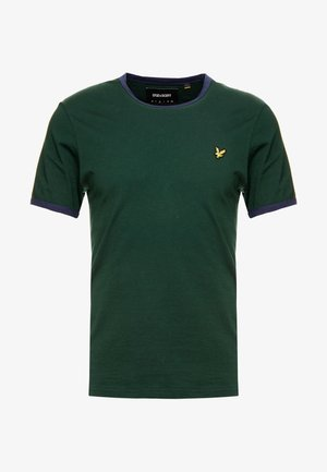 RINGER TEE - T-shirt print - jade green/navy