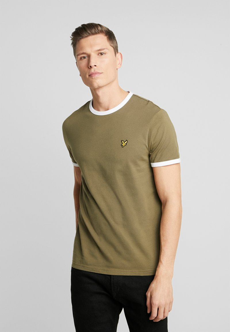 Lyle & Scott - RINGER TEE - T-Shirt basic - lichen green/white