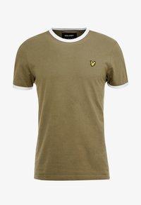 Lyle & Scott - RINGER TEE - T-Shirt basic - lichen green/white - 3