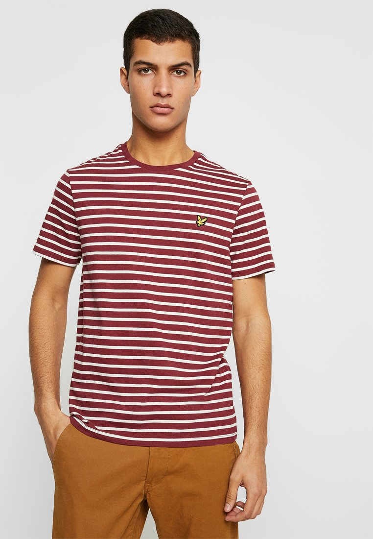 Lyle & Scott - BRETON STRIPE  - T-shirts print - dark red