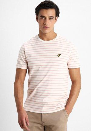 BRETON STRIPE  - T-Shirt print - snow white/coral way
