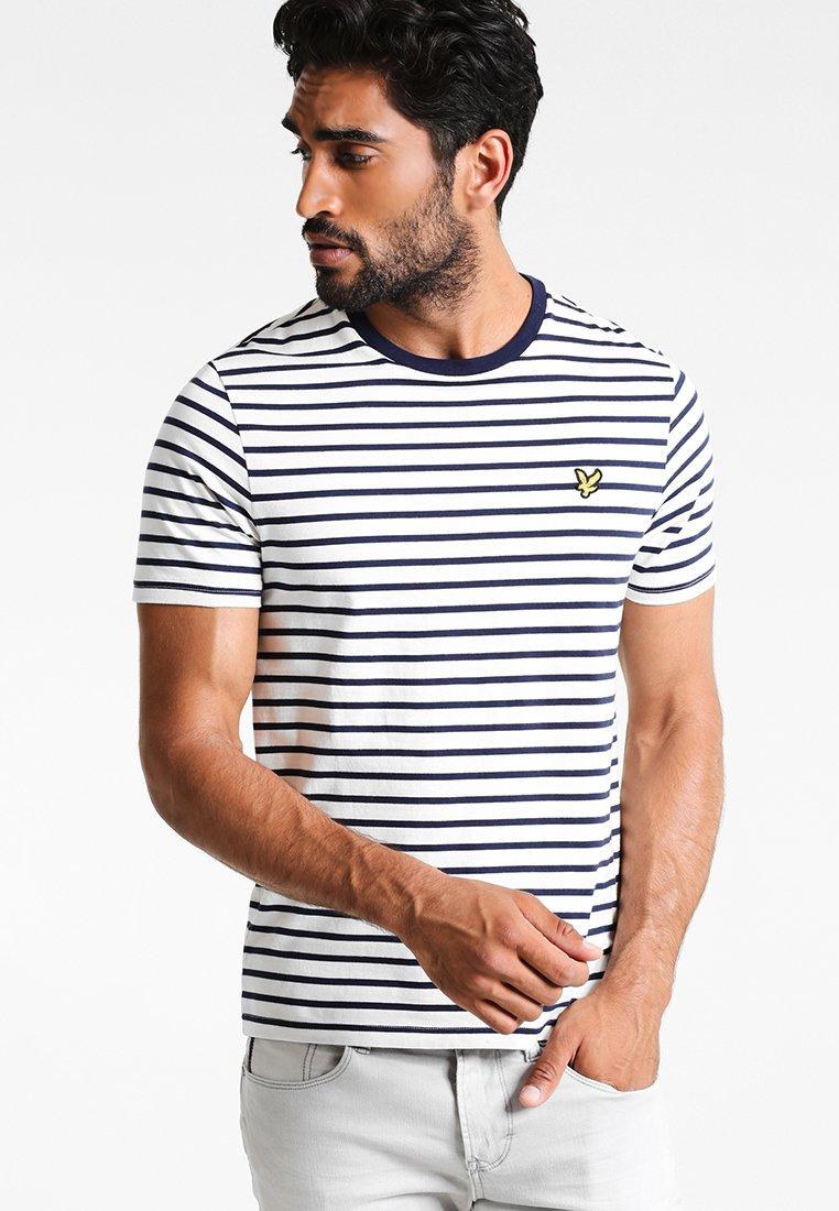 Lyle & Scott - BRETON STRIPE  - T-shirt print - off white