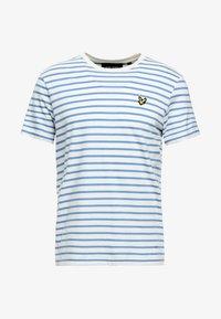 Lyle & Scott - BRETON STRIPE  - T-shirt print - snow white/cornflower blue - 4