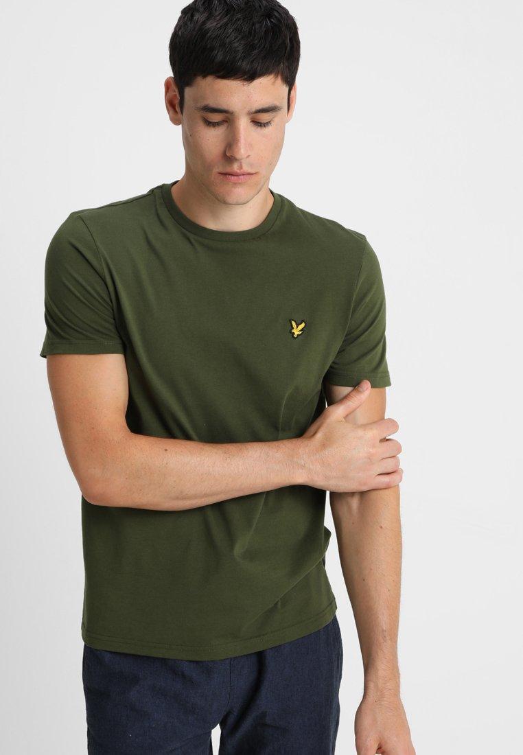 Lyle & Scott - PLAIN - T-shirt - bas - woodland green