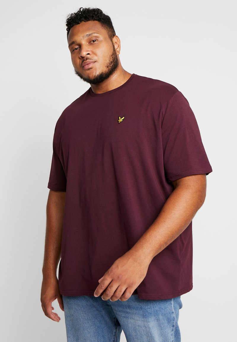 Lyle & Scott - CREW NECK - T-shirt basique - burgundy