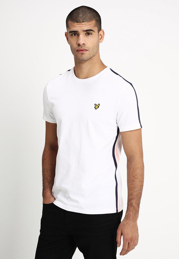 Lyle & Scott - SIDE STRIPE  - T-Shirt basic - white