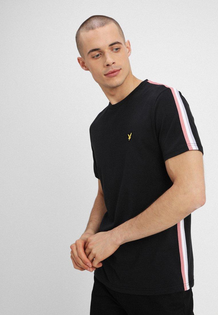 Lyle & Scott - SIDE STRIPE  - Basic T-shirt - true black