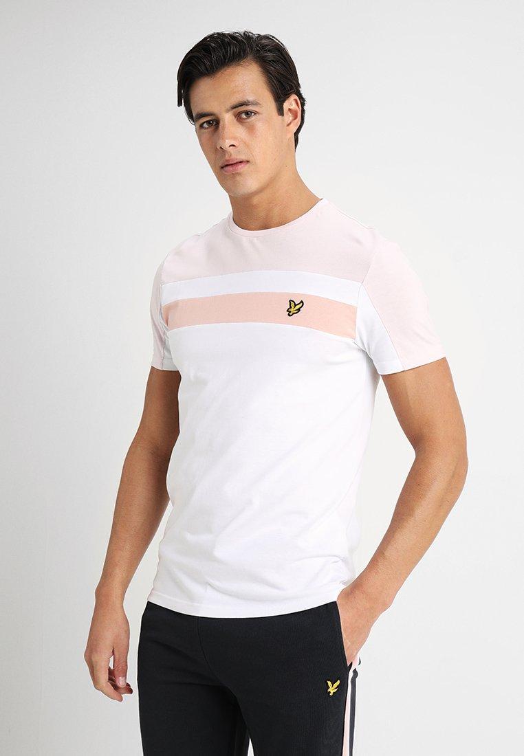 Lyle & Scott - COLOUR BLOCK - T-Shirt print - white