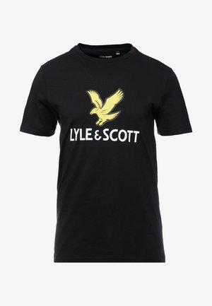 LOGO - T-shirt med print - jet black