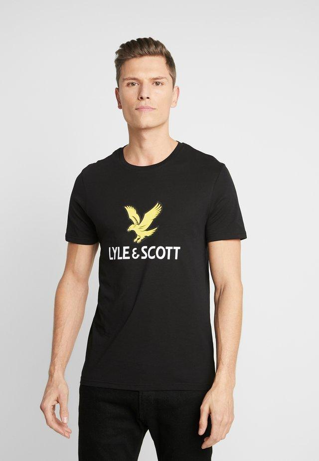 LOGO - T-shirt con stampa - jet black