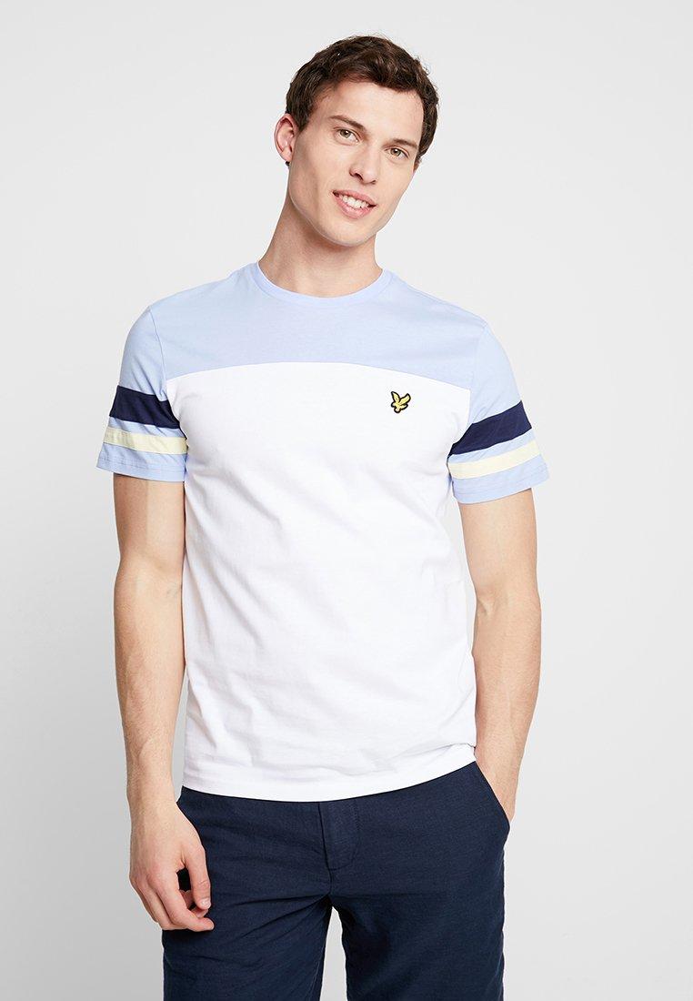 Lyle & Scott - CONTRAST BAND - Basic T-shirt - white
