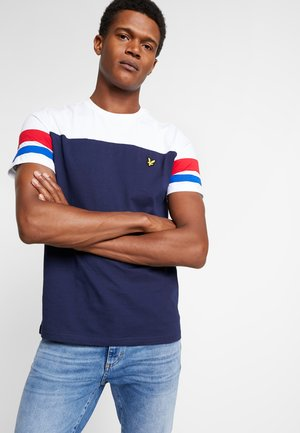 CONTRAST BAND - T-shirts - navy