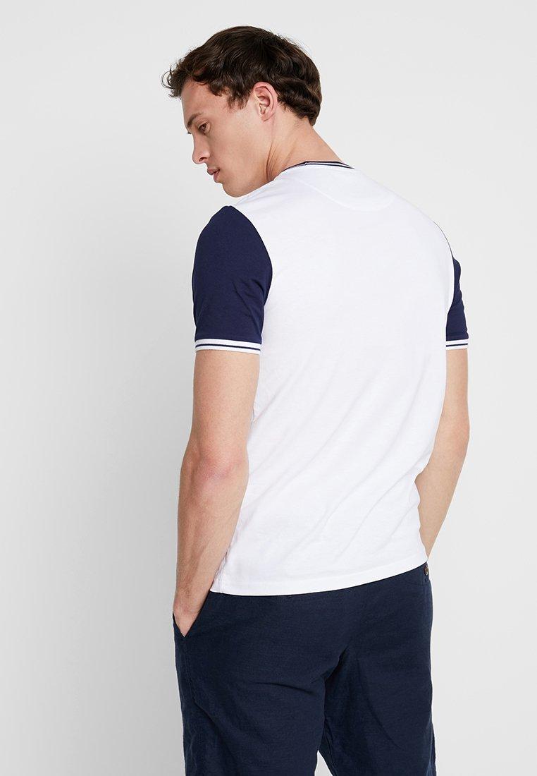 Scott navy Lyleamp; White shirt Imprimé TippedT y0mNOPn8vw