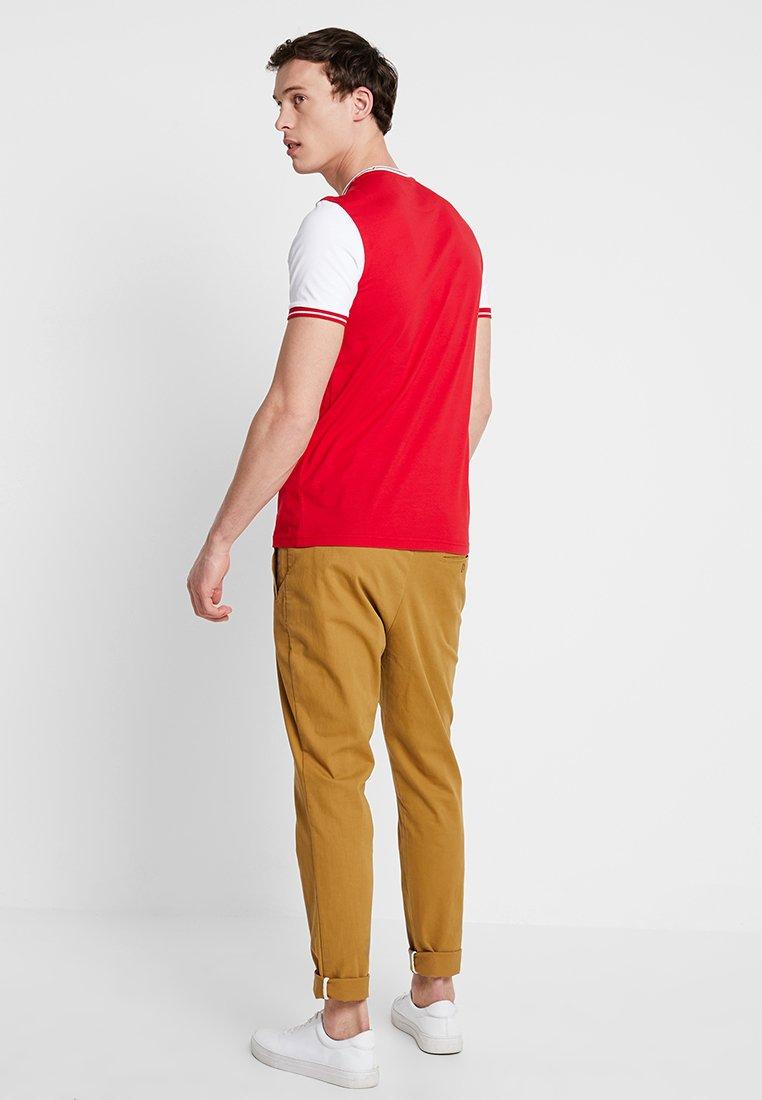 shirt white Imprimé Dark Red Lyleamp; TippedT Scott HYE2Ieb9WD