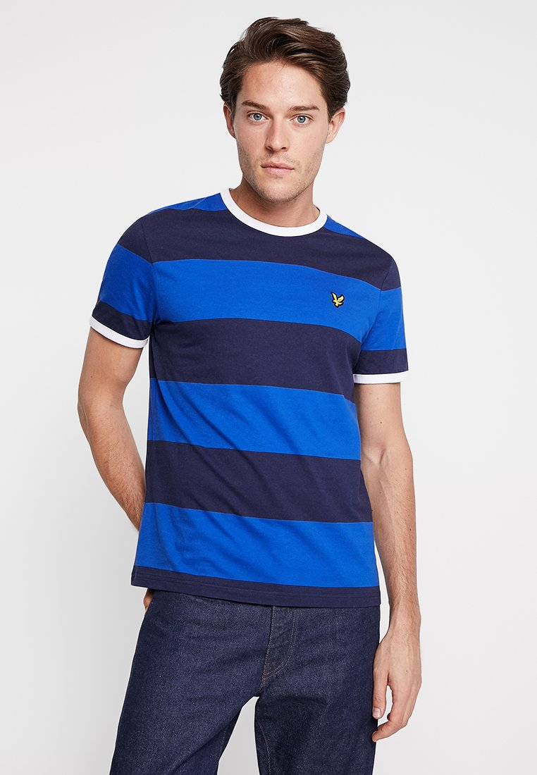 Lyle & Scott - WIDE STRIPE RINGER - T-shirt print - duke blue