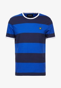 Lyle & Scott - WIDE STRIPE RINGER - T-shirt print - duke blue - 4