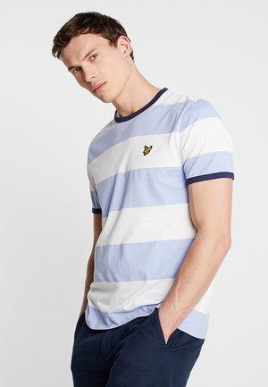 WIDE STRIPE RINGER - Print T-shirt - blue smoke