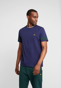Lyle & Scott - TIPPED - T-shirt basic - navy - 0