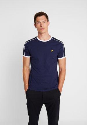 TAPING RINGER  - T-Shirt print - navy