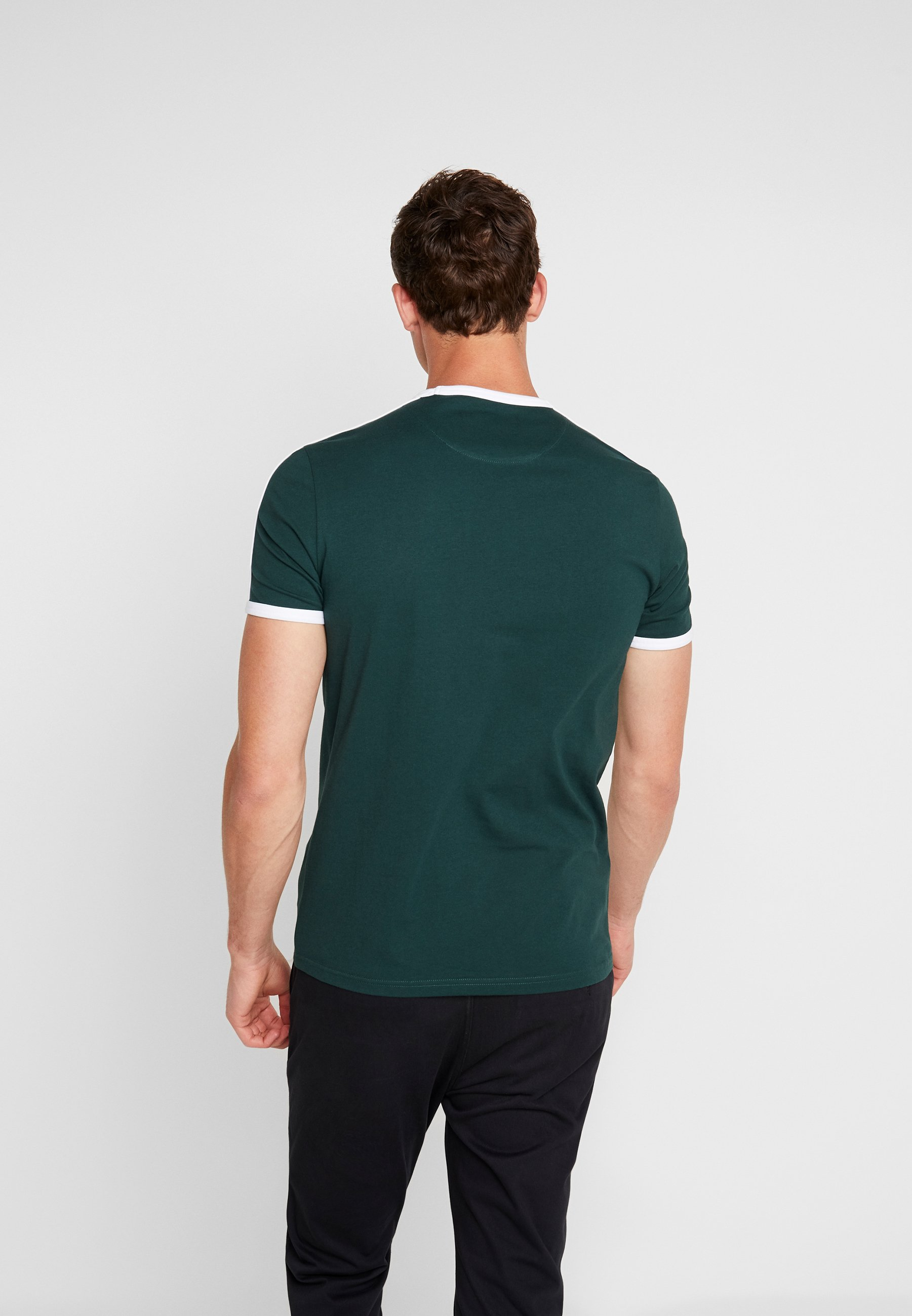 RingerT Jade Green Lyleamp; Scott Imprimé Taping shirt rCdeBxo