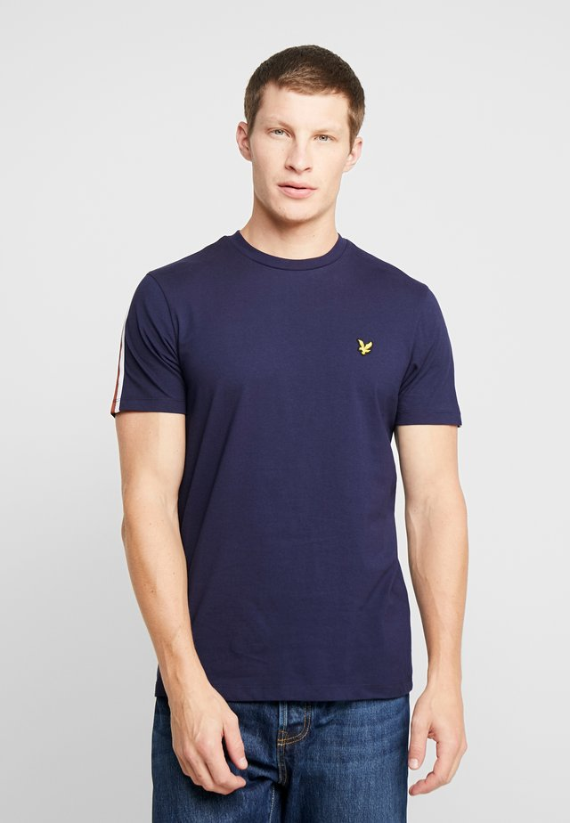 TAPED T-SHIRT - Basic T-shirt - navy