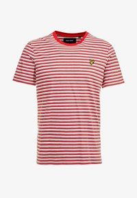 Lyle & Scott - STRIPE - Print T-shirt - red - 3