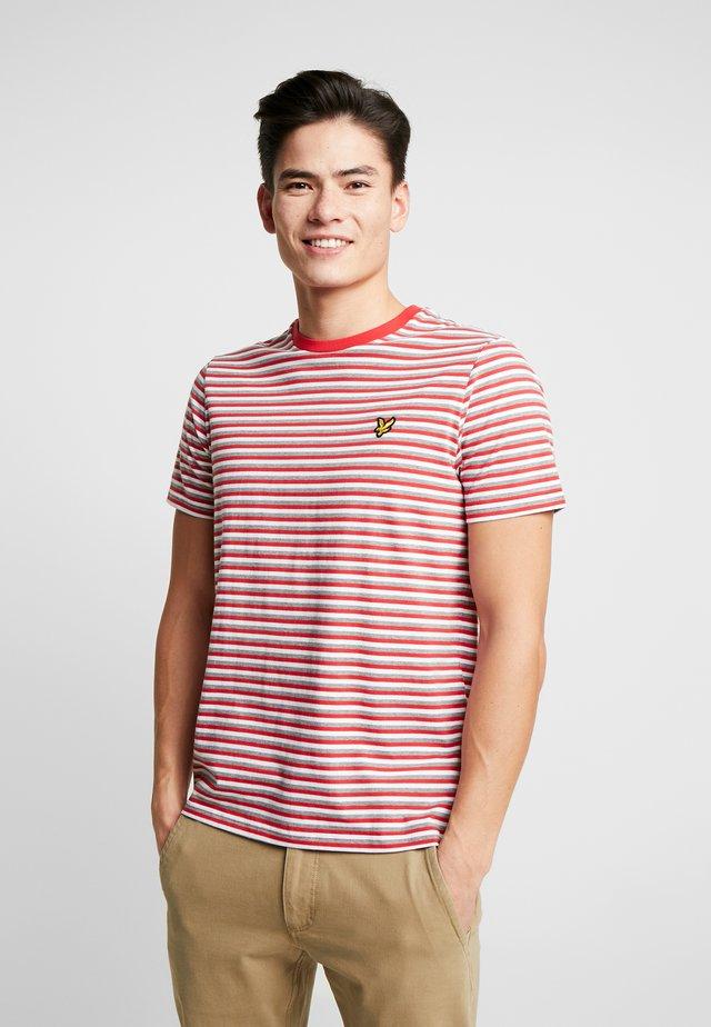 STRIPE - Print T-shirt - red