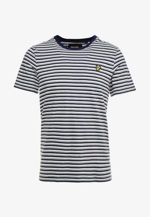 STRIPE - T-shirt med print - navy