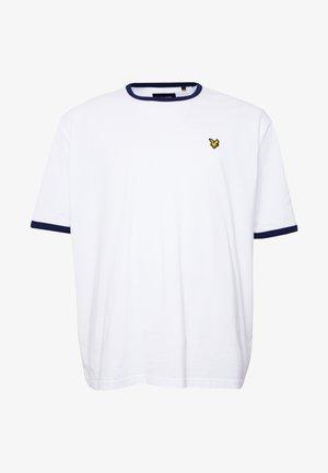RINGER - Print T-shirt - white/navy