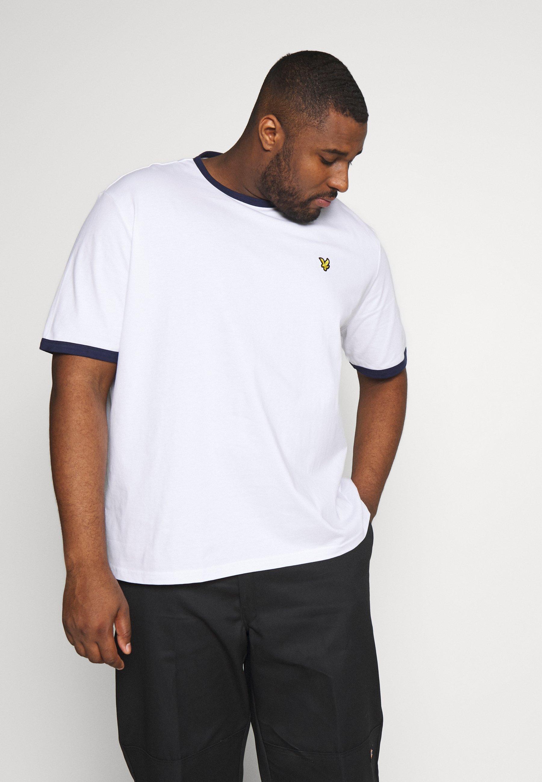 Lyle & Scott RINGER - T-shirts print - white/navy - Tøj Til Herrer Salg