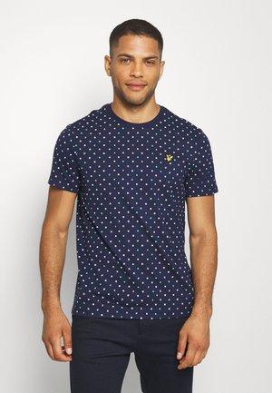 FLAG - Print T-shirt - navy