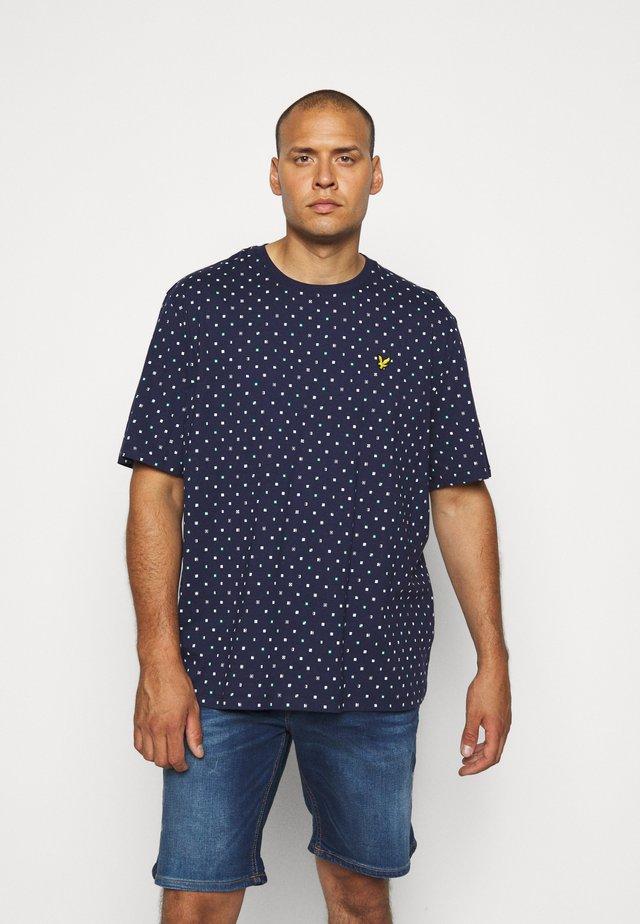 FLAG PRINT - T-shirt imprimé - navy