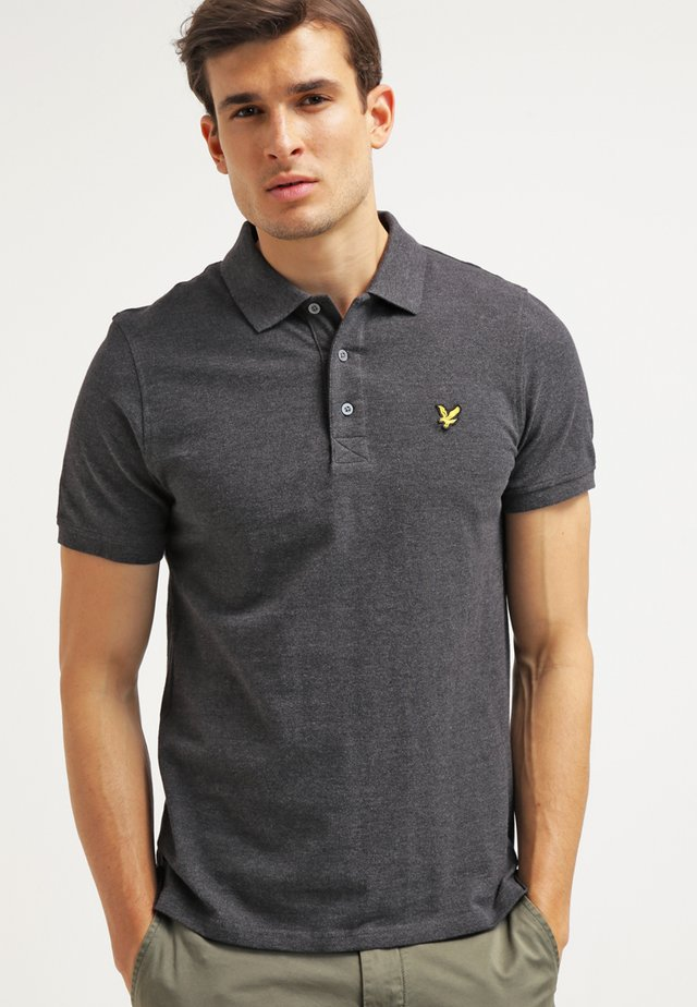 PLAIN - Polo - charcoal marl