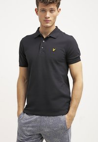 Lyle & Scott - PLAIN - Piké - true black - 0