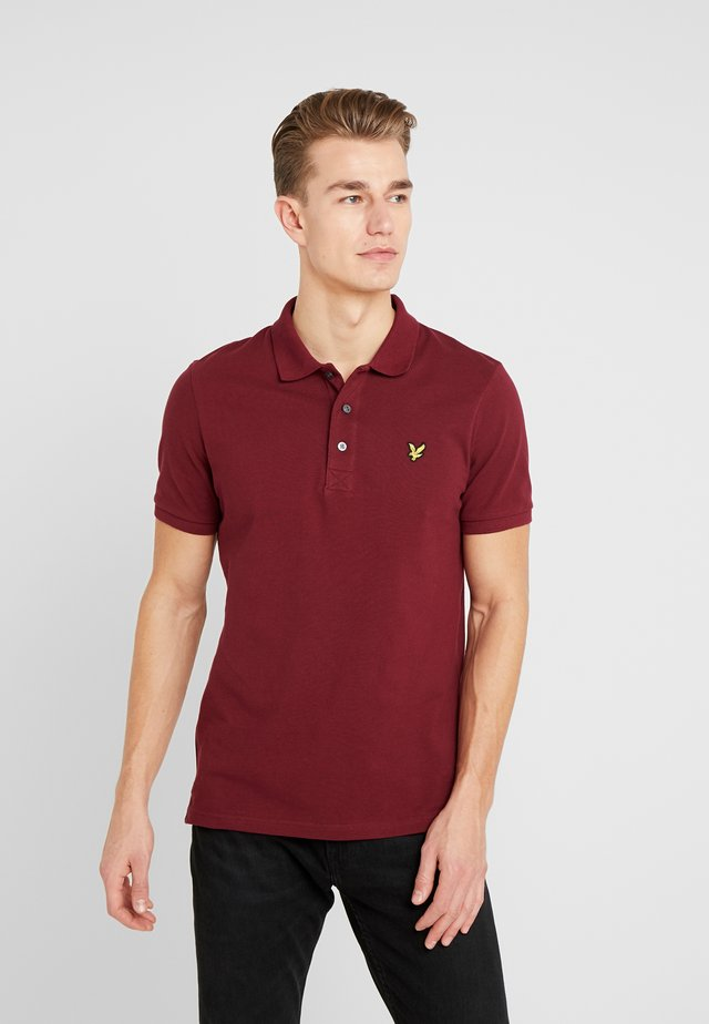 PLAIN  - Polo shirt - claret jug