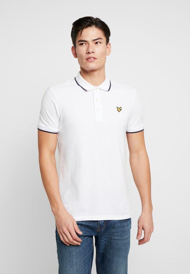 SEASONAL TIPPED POLO SHIRT - Poloshirt - white/navy