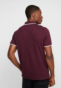 Lyle & Scott - TIPPED - Poloshirt - burgundy/white - 2
