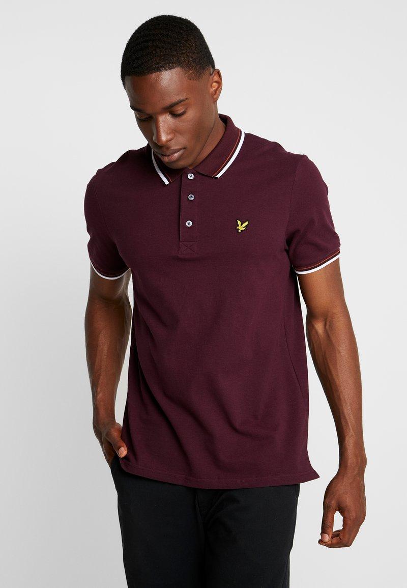 Lyle & Scott - TIPPED - Poloshirt - burgundy/white