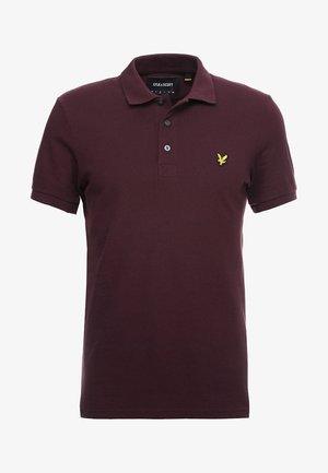 SLIM FIT - Poloshirt - burgundy