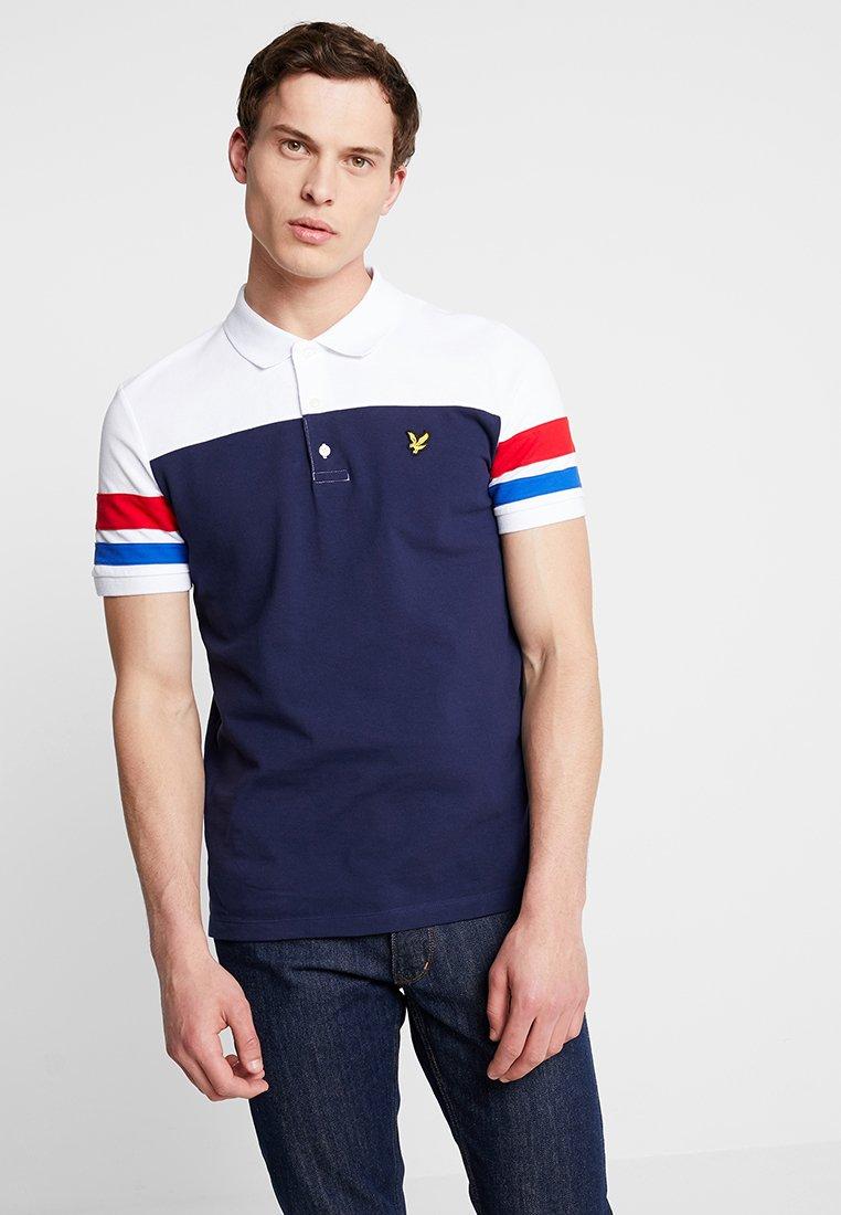 Lyle & Scott - CONTRAST BAND - Polo shirt - navy
