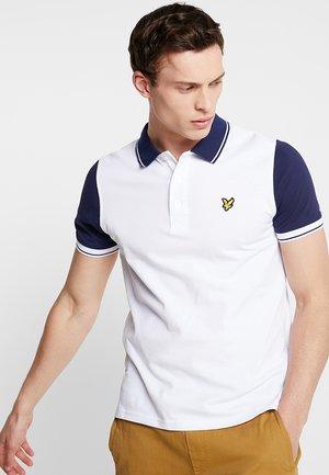 TIPPED - Koszulka polo - white/navy