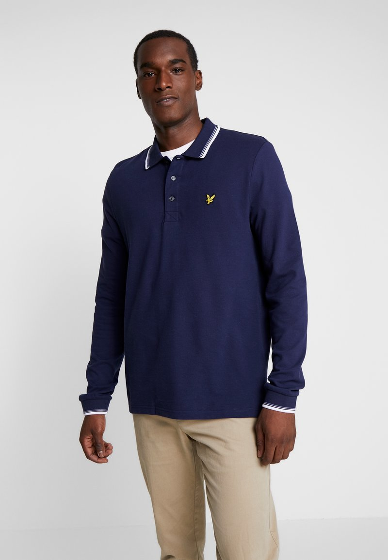 Lyle & Scott - TIPPED - Poloshirt - navy/white