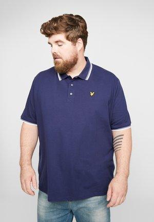 PLUS TIPPED - Poloshirt - navy/white