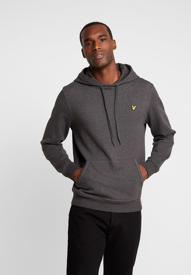 HOODIE - Jersey con capucha - charcoal marl