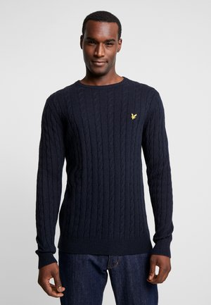 CABLE JUMPER - Sweter - dark navy