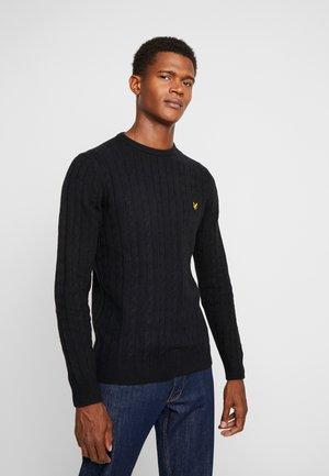 CABLE JUMPER - Sweter - true black