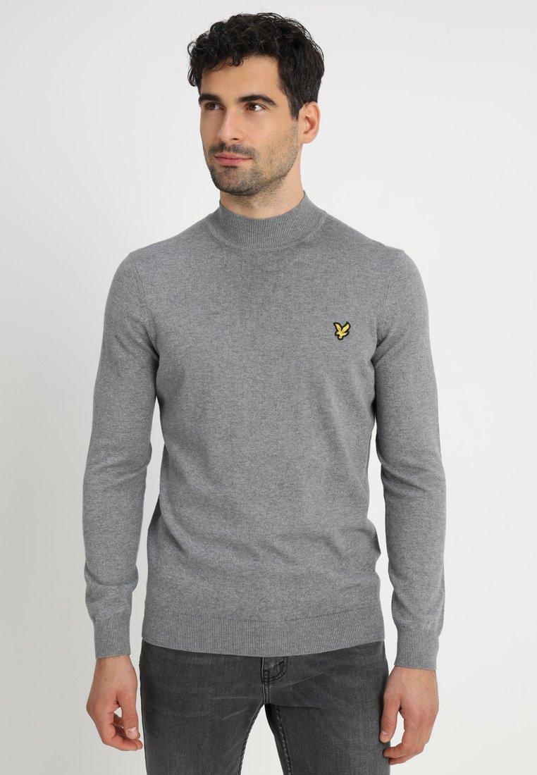Lyle & Scott - NECK JUMPER - Sweter - mid grey marl