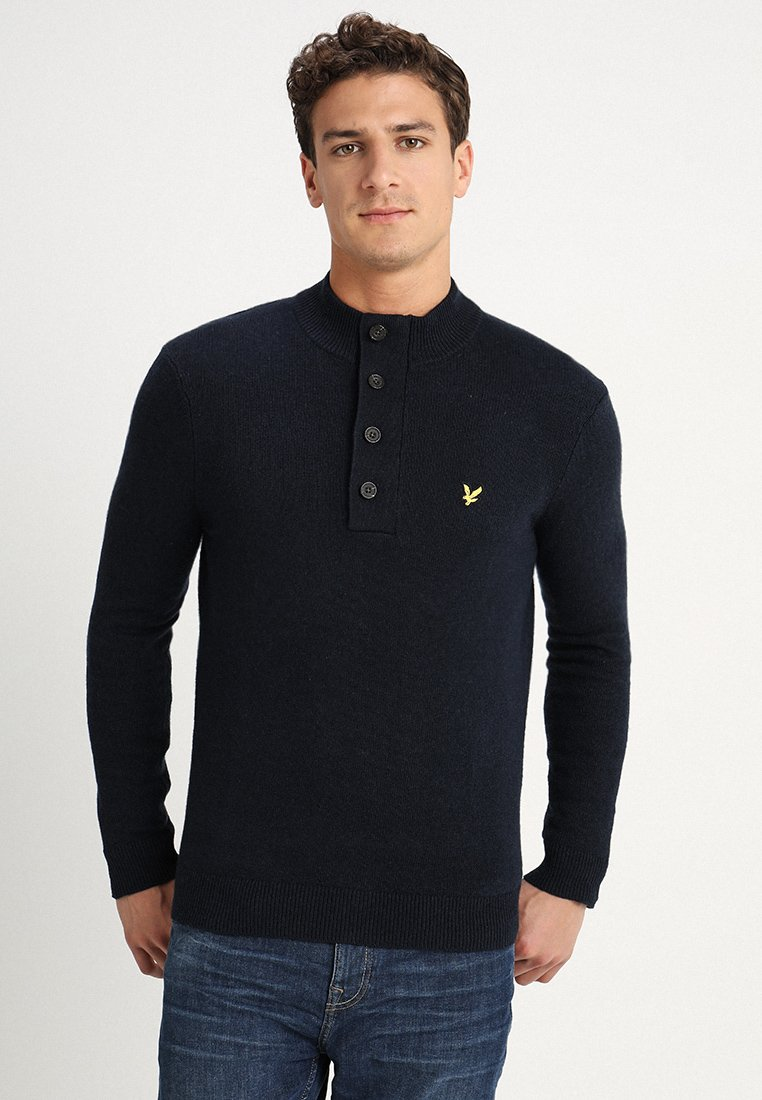 Lyle & Scott - FUNNEL NECK JUMPER - Sweter - dark navy