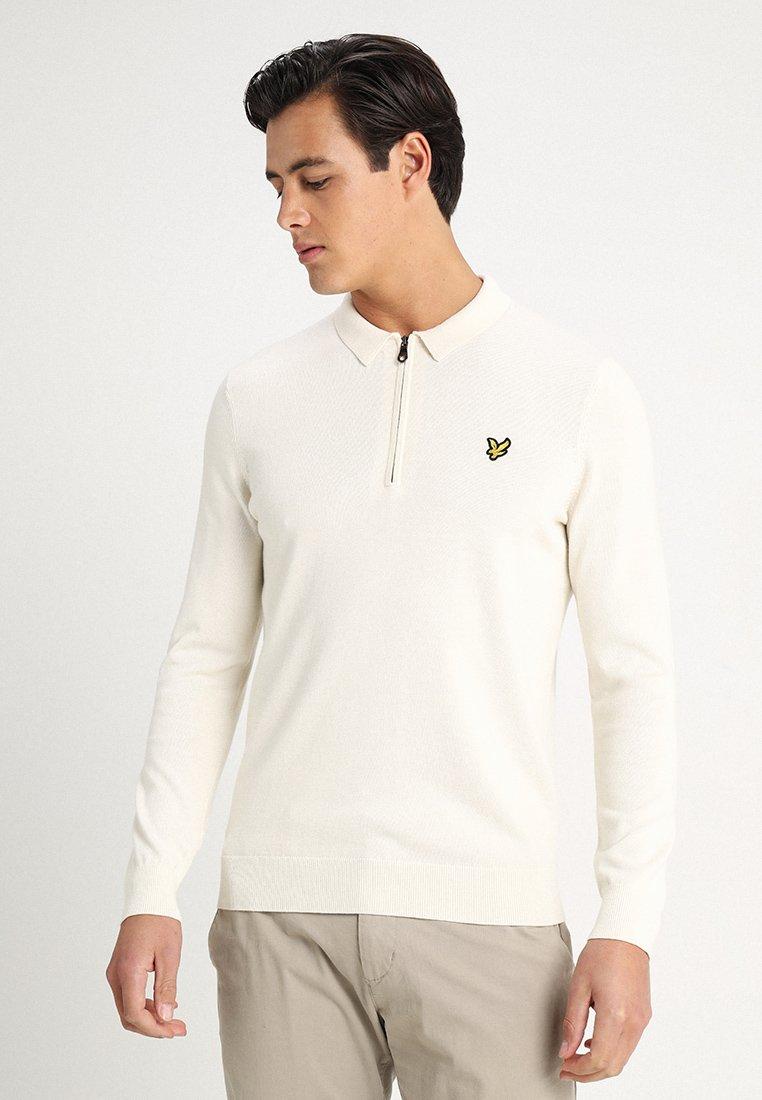 Lyle & Scott - COLLARED 1/4 ZIP - Polo shirt - snow white
